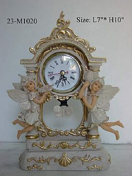 Polyresin And Clocks Angelets